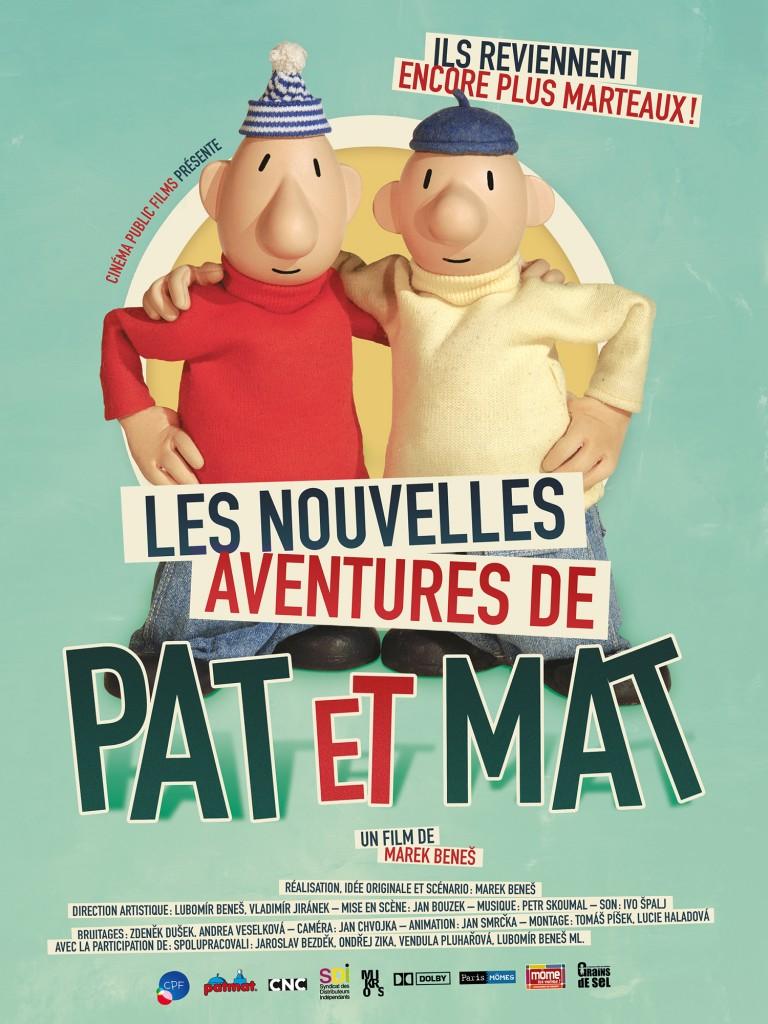 """Affiche du film """"Les Nouvelles Aventures de Pat et Mat"""""""