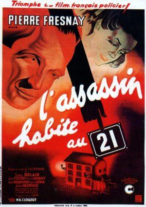 """Affiche du film """"L'assassin habite au 21"""""""